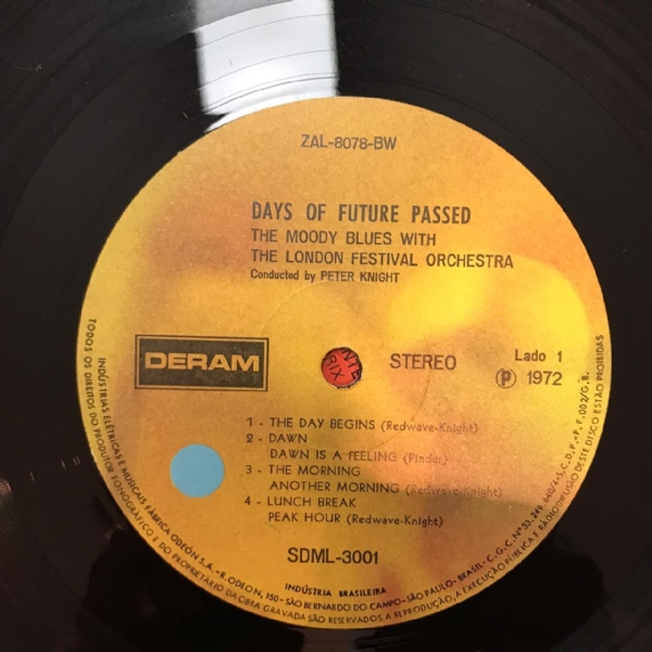 Disco de vinil usado - The Moody Blues - Days Of Future Passed Lp IMG-1746930