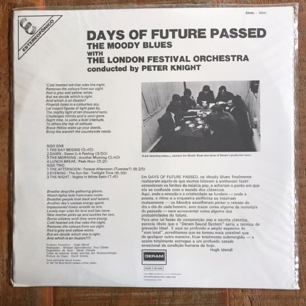 Disco de vinil usado - The Moody Blues - Days Of Future Passed Lp IMG-1746931