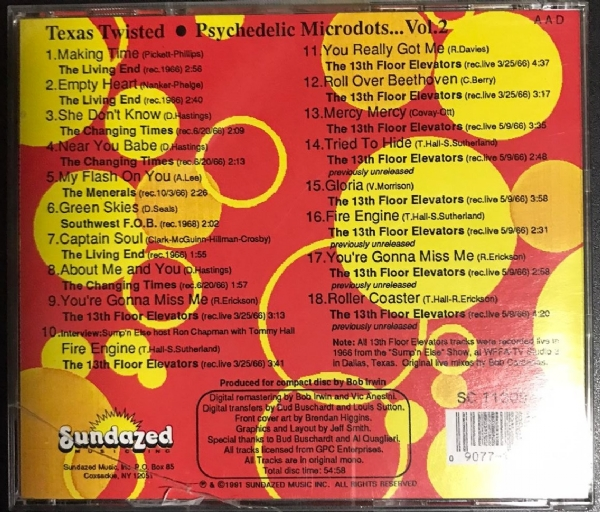 CD usado - Texas Twisted Psychedelic Microdots Of The Sixties IMG-1764945