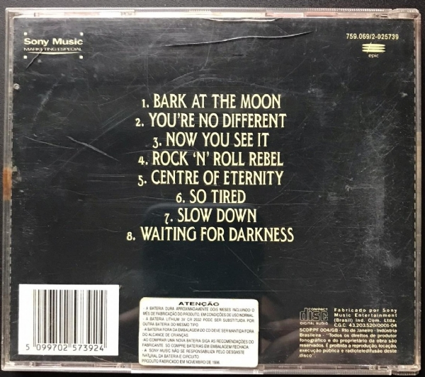 CD usado - Ozzy Osbourne - Bark At The Moon IMG-1771104