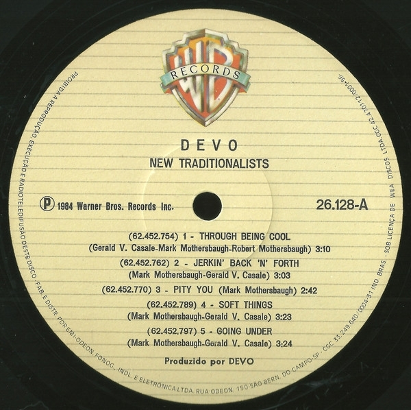 Disco De Vinil Usado - Devo - New traditionalists Lp IMG-1782605