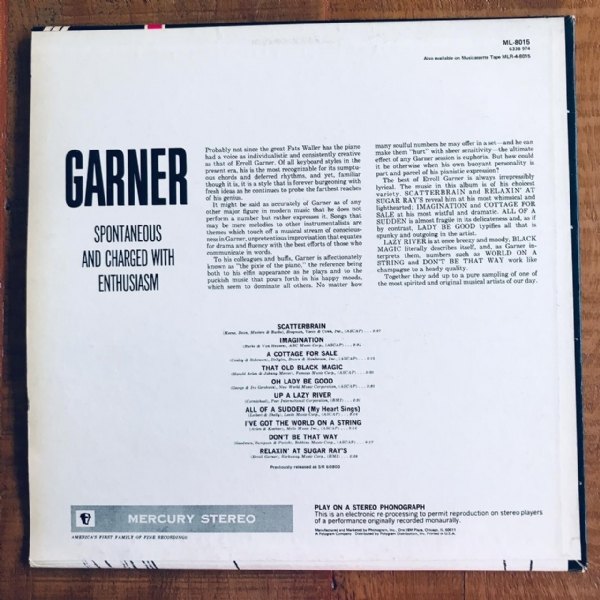 Disco De Vinil Usado - Erroll Garner - Best Of Garner Lp IMG-1794507