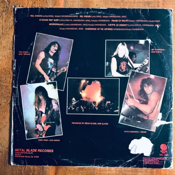 Disco de vinil usado - Slayer - Hell Awaits Lp IMG-1803497