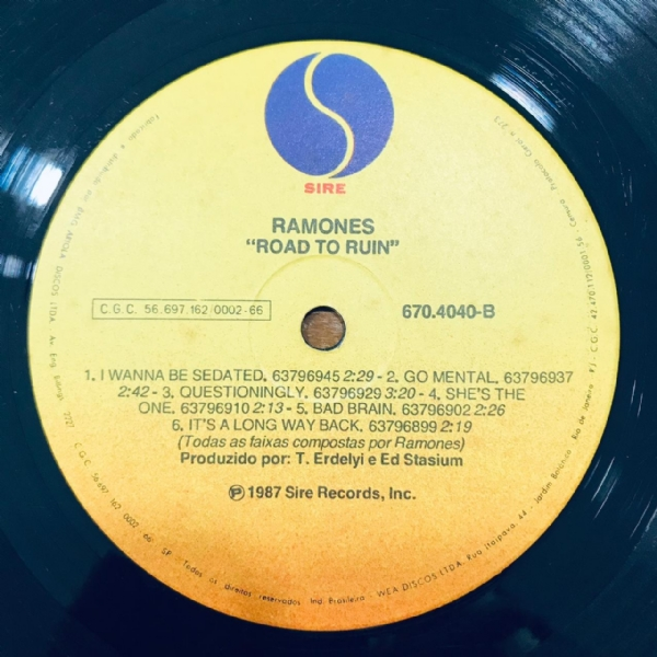 Disco De Vinil Usado - Ramones - Road To Ruin Lp IMG-1803558