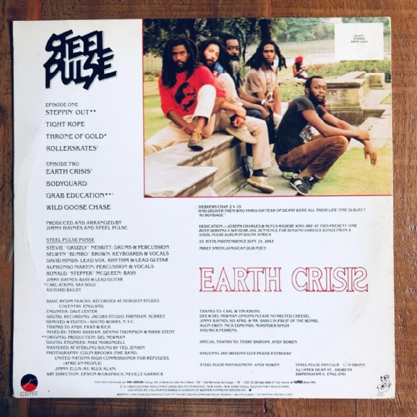 Disco De Vinil Usado - Steel Pulse - Earth Crisis Lp IMG-1810585