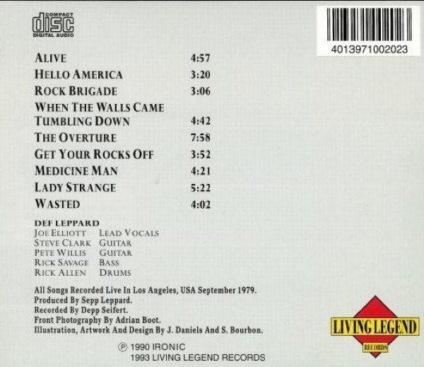 CD - Def Leppard - Live At The Top IMG-1830698