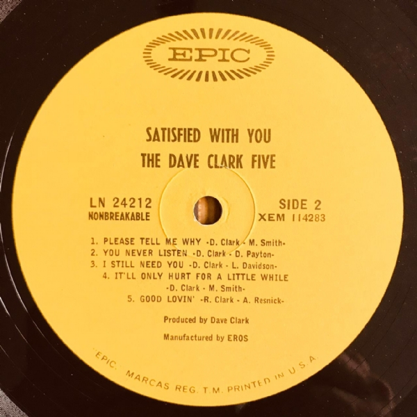 Disco De Vinil Usado - The Dave Clark Five - Satisfied With You Lp IMG-1837774