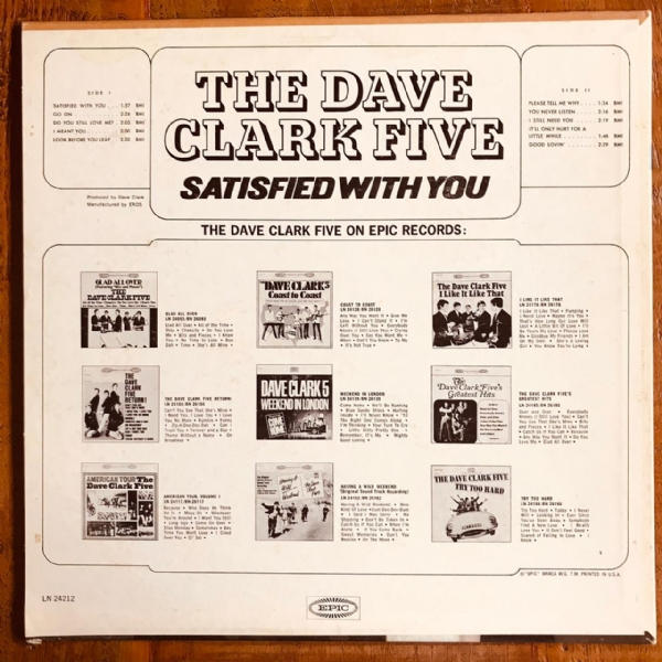 Disco De Vinil Usado - The Dave Clark Five - Satisfied With You Lp IMG-1837773