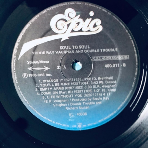 Disco De Vinil Usado - Stevie Ray Vaughan And Double Trouble - Soul To Soul Lp IMG-1870089
