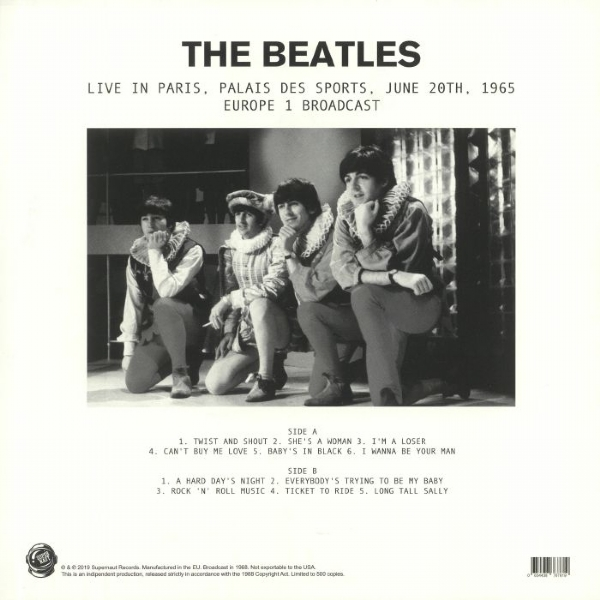 Disco De Vinil Novo - The Beatles - Live In Paris, Palais De Sports Lp 180g IMG-1876396