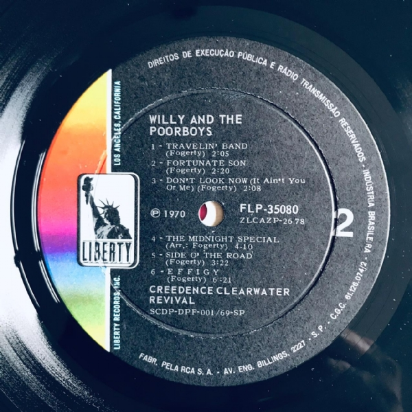 Disco de vinil usado - Creedence Clearwater Revival - Willy And The Poor Boys LP IMG-1900090