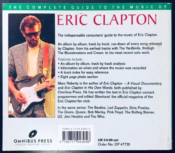 Livro - Eric Clapton - The Complete Guide To The Music Of IMG-1916857