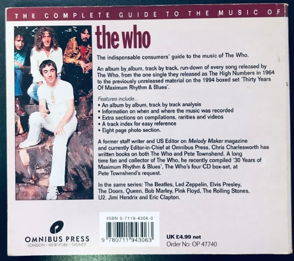 Livro - The Who - The Complete Guide To The Music Of IMG-1916868
